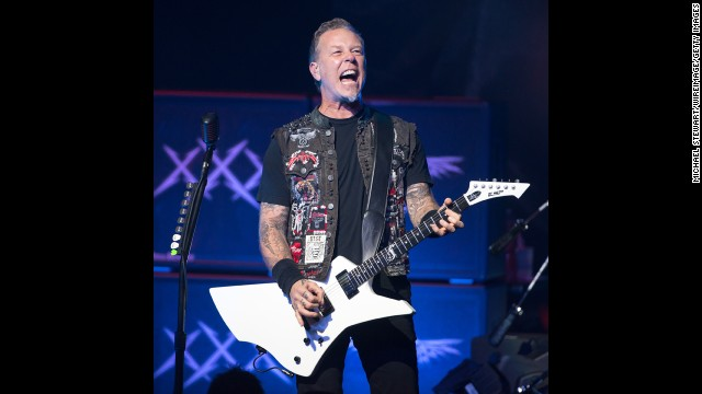 James Hetfield, the front man of rock band Metallica, turned 50 on August 3.