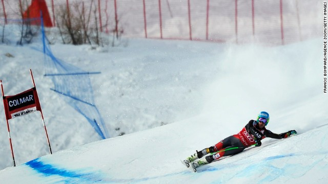 Ted Ligety failed to finish the first run in a giant slalom race in Val d'Isere, France on Saturday.