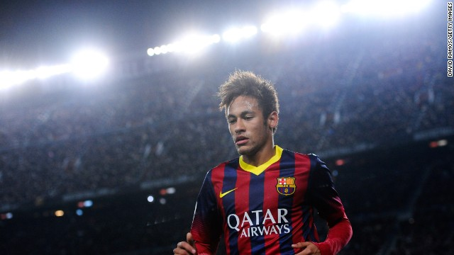 Neymar is flourishing under the spotlight, scoring two more goals Saturday against Villarreal.