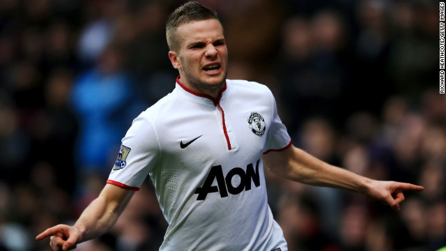 Tom Cleverley scored Manchester United's third goal in a 3-0 win at Aston Villa on Sunday.
