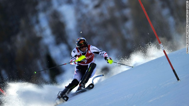 Mario Matt won his 14th World Cup slalom to tie his fellow Austrian Benjamin Raich.