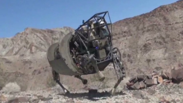 One of military robots from Boston Dynamics, which was purchased by Google.