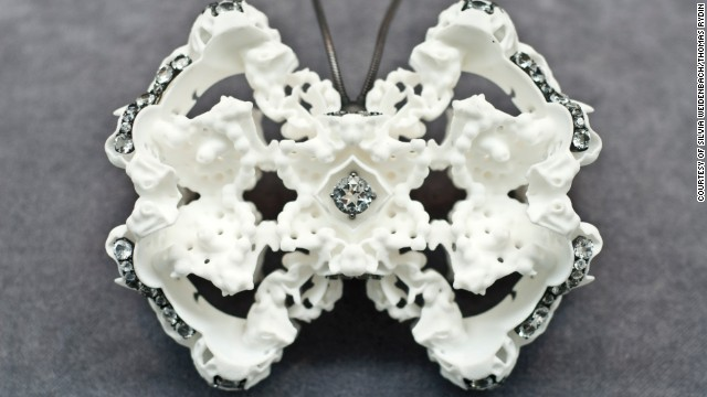 "London-based designer Silvia Weidenbach created this necklace using 3-D printing techniques. ""I combine new technologies with traditional artisan, craft skills and it is through my understanding and use of both that I discovers new forms of expression,"" she says."