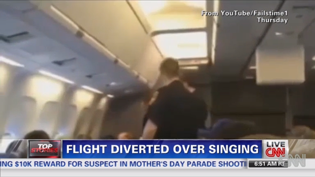 "In May, an American Airlines flight from LA to NYC made an unscheduled stop in Kansas City to offload a passenger who wouldn't stop singing ""I Will Always Love You."""