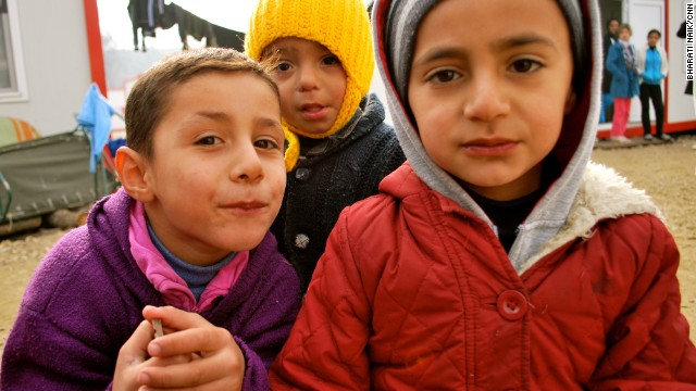 About 1,200 mostly Syrians live cramped inside containers and tents at the Harmanli camp near Bulgaria's border with Turkey.