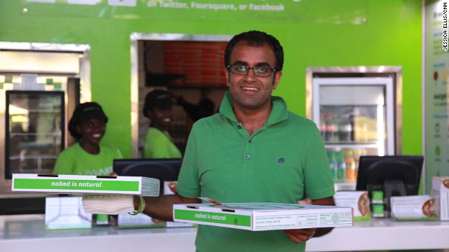 Former banker Ritesh Doshi opened the Nairobi-based Naked Pizza store about a year ago on the promise of fast delivery and natural ingredients.