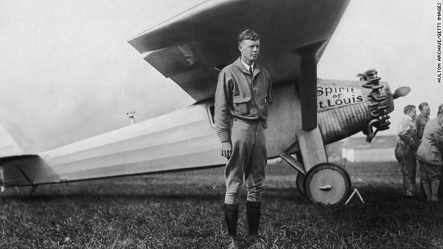 American aviator Charles Lindbergh completed the first trans-Atlantic nonstop flight on May 20-21, after flying for 33.5 hours. A typical New York to Paris flight today takes around eight hours.
