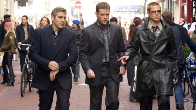 "George Clooney, Matt Damon and Brad Pitt brought back the gang from ""Oceans Eleven"" in the 2004 sequel ""Ocean's Twelve."""