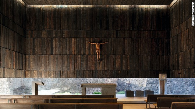 From the outside, this church, designed by Undurraga Devés Arquitectos, appears like a concrete bunker. But step inside and you'll find old railway sleepers line the walls, and light floods upwards from the floor.