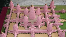 Model of Viraat Ramayan Mandir, set to be the biggest Hindu temple in the world.