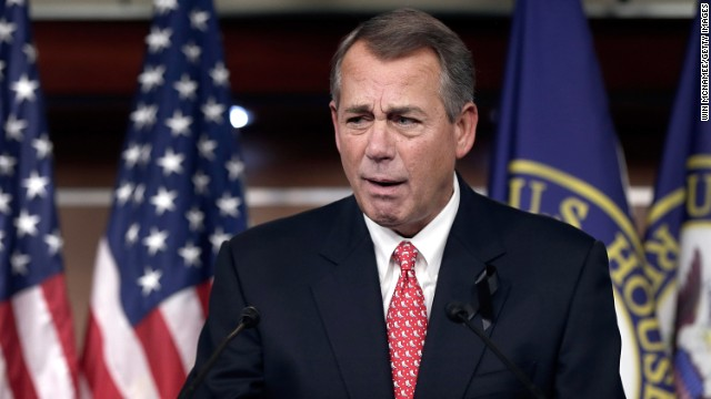 Boehner does what he hasn't done in four years