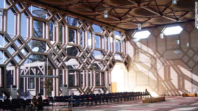 The center, which incorporates traditional geometric Islamic design into its structure, aims to offer a cultural space for the progressive Ismaili community in Europe, to promote better understanding amongst its people and others of different background and origin.