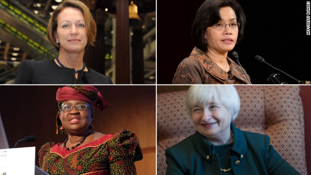 Pictured (Clockwise L-R): Inga Beale, Sri Mulyani Indrawati, Janet Yellen and Ngozi Okonjo-Iweala.