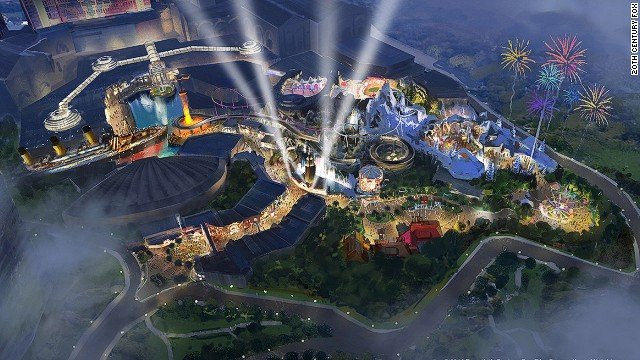 A graphic rendering of Twentieth Century Fox World, due to open in Malaysia in 2016.