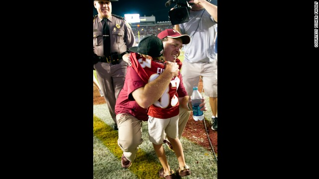 "Fisher has used his position at Florida State to put the spotlight on Fanconi Anemia. ""We thought, we can go private with this and keep it within,"" Fisher said, ""or we can go out publicly and not only help Ethan, but help all those kids who don't have a voice -- whose dads aren't the head football coach."""