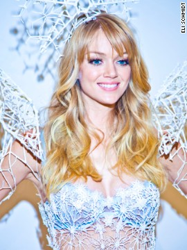 Rothenberg 3-D scanned Lindsay Ellingson's body to ensure a perfect fit. <a href='http://www.swarovski.com/Web_US/en/index' target='_blank'>Swarovski</a> made her sparkle with thousands of crystals.