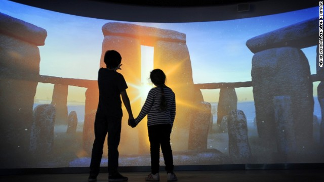 Another exhibit lets visitors experience -- virtually -- dawn from the center of the stone circle. Minus typical English drizzle.
