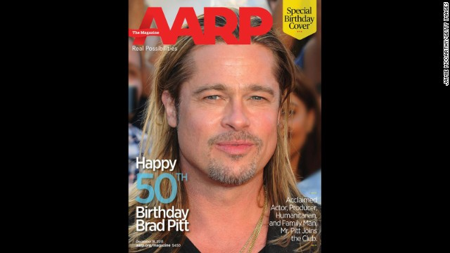 In honor of Brad Pitt's 50th birthday on December 18, The <a href='https://www.facebook.com/AARP' target='_blank'>AARP marked the occasion with a special cover</a> featuring the star. Take a look back at his life and career through the years.