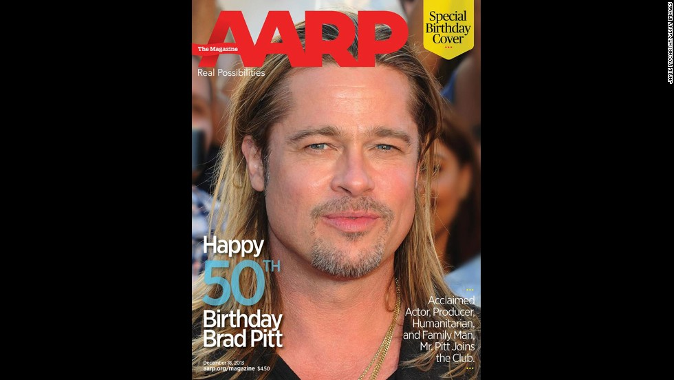Happy 50th birthday Brad Pitt! In honor of his big day on December 18, The <a href='https://www.facebook.com/AARP' target='_blank'>AARP marked the occasion with a special cover</a> featuring the star.