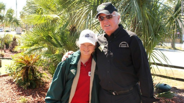 Detwiler is pictured here with Prokopova, who won her second Masters title at his course this year.