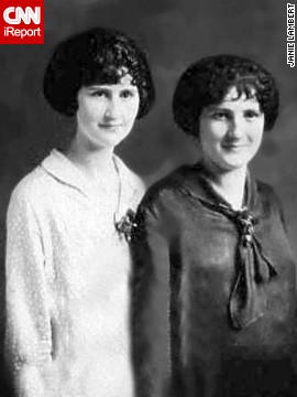 "<a href='http://ireport.cnn.com/docs/DOC-1065658'>iReporter Janie Lambert</a> from Hughesville, Maryland, says good hair runs in the family. Her aunt was a hair stylist for years and her great aunt worked a beauty shop. She shared this image of her grandmother, right, and great aunt from ""the mid '20s or early '30s,"" she said. ""They were inspired by movie stars and celebrities, especially the flapper era, silent movie."""