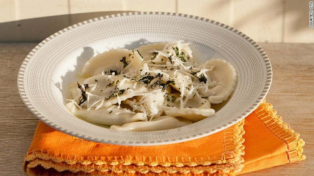 Ravioles are a culinary legacy left by the Venetians, who ruled Cyprus from 1489 to 1571. The pasta parcels are stuffed with haloumi, then simmered in chicken broth.