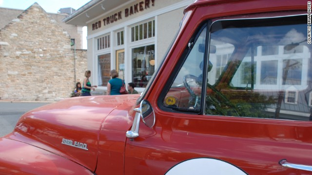 The Red Truck Bakery in Warrenton, Virginia, was adapted into a bakery from a vacant 1921 Esso filling station. Red Truck Bakery opened in 2009.