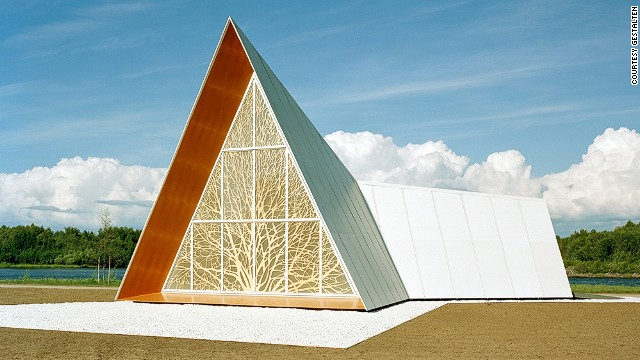 The brief for this building was to create a space without traditional Christian symbolism.