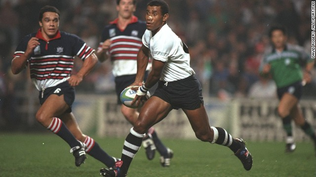 Fiji's Waisale Serevi is regarded as one of the greatest rugby sevens players of all time. He led his country to a first World Cup Sevens title in 1997.