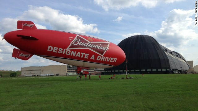 In 2013, Budweiser used a 130-foot-long American Blimp model A -60 Plus to promote its designated driver campaign.