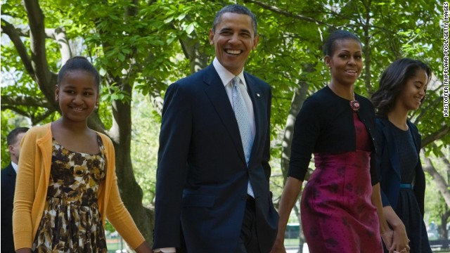 Obama on living with 'three opinionated, strong, tall women'