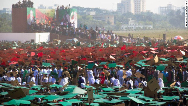 """The red of the Bangladesh flag symbolizes """"the rising sun of a new country""""."""
