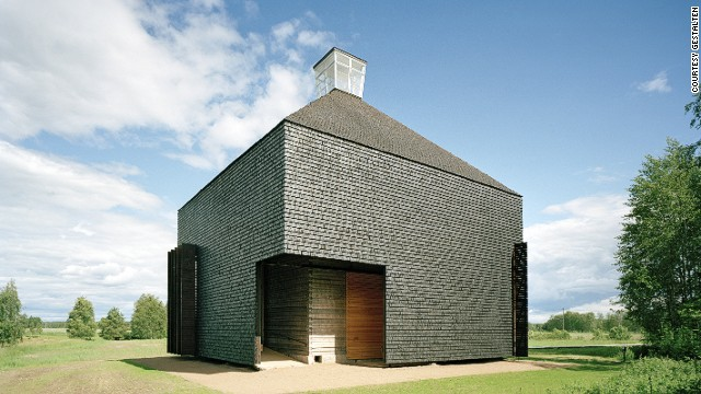 Built on the site of a demolished 18th century church, this minimalist chapel by Lassila Hirvilammi Architects was created using 18th century building techniques.