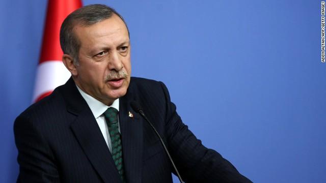 Turkish Prime Minister Recep Tayyip Erdogan in Ankara on December 18, 2013