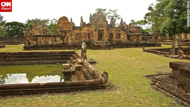"Tourists were nowhere in sight when John Vogel visited Muang Tum, an 11th century Khmer temple in eastern Thailand, close to the Cambodian border. He found it a ""peaceful and serene"" setting."