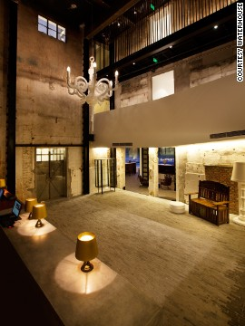 Formerly a dockyard warehouse on the Huangpu River, Waterhouse is now a high-design hotel in Shanghai.
