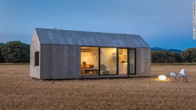 The transportable APH80 home from Spanish firm Abaton takes between 6 and 8 weeks to build and can be transported or moved between destinations by road. Designed as a home for two people, the 27 square meter (290 sq ft) dwelling hosts of a bedroom, living room and bathroom.