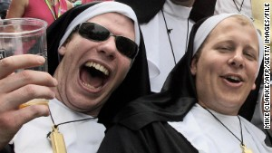 Rugby for men dressed as nuns?