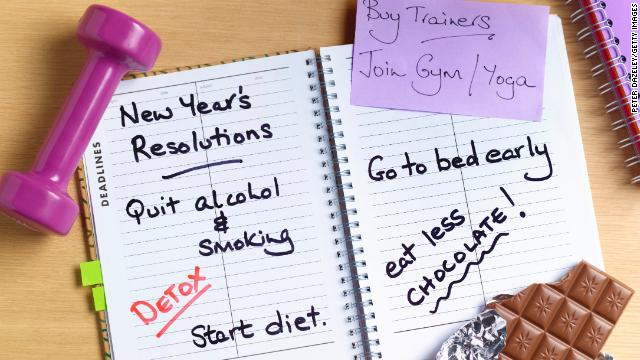 New Year's resolutions for a healthy 2015