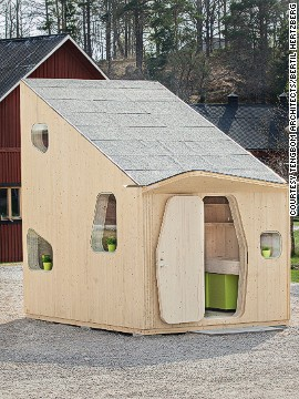 A number of fresh micro-home concepts have also been designed in other regions of the world in recent years. Tengbom Architects created this 10-square-meter (107-square-foot) housing unit with students at the University of Lund, Sweden, in mind. The compact space offers a sleeping loft, kitchen, bathroom and a small garden with a patio.