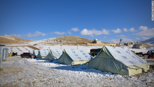 The Shuhada Camp in Bekaa Valley pictured on December 16. The number of Syrians who have fled their war-ravaged country is more than 2 million, according to the United Nations. Lebanon has taken in more than 800,000 refugees.
