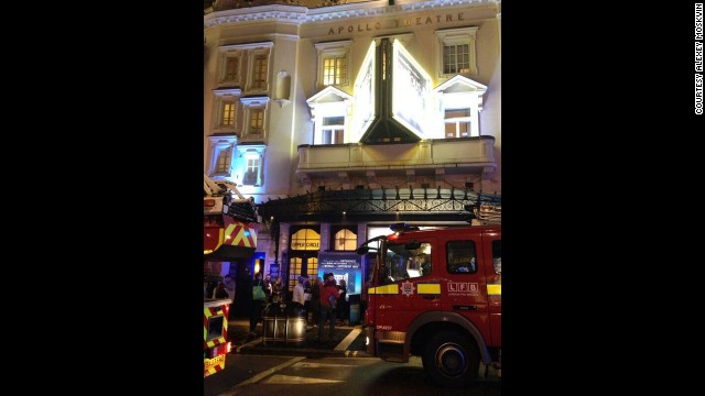 Apollo Theatre ceiling collapses in London...