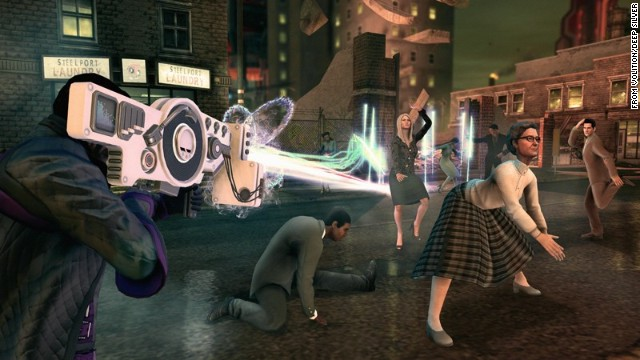 "Want some shooter action but nothing too serious? How about nothing even vaguely serious? ""Saints Row IV"" pokes fun at everything from the presidency to game shows. Completely tongue in cheek, but full of amazing action."