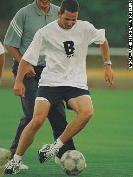 A young Garcia enjoying a kickabout in 2000.