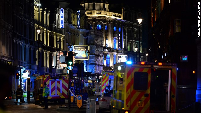 "The Apollo Theatre is located next to Piccadilly Circus in the heart of London. The ceiling collapsed during a packed performance of ""The Curious Incident of the Dog in the Night-Time."""