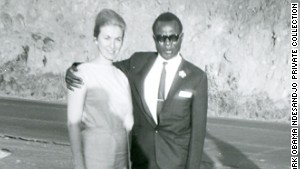 Barack Obama\'s father with his third wife, Mark Obama Ndesandjo\'s mother.