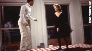 Josh (Tom Hanks) and Susan (Elizabeth Perkins) on the trampoline.