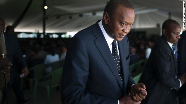 Kenyan President Uhuru Kenyatta, 53, faced five counts of crimes against humanity.