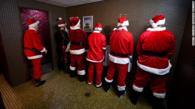 Image result for santa clause's in men's bathroom