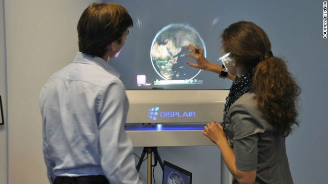The screen's inventors think that Displair screens could be used in medicine, and offer a more hygienic alternative to touchscreens.